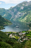 Geiranger fjord, Norway. Geiranger fjord, Norwegian landscape, Norway Royalty Free Stock Photo