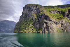 Geiranger fjord, Norway. Geiranger fjord - view from cruise ship, Norway Royalty Free Stock Image