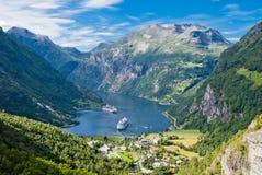 Geiranger Fjord, Norwegen Stockfotos