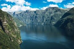 Geiranger Fjord in Norwegen Stockbilder