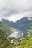 Geiranger Fjord Norwegen Stockfotografie