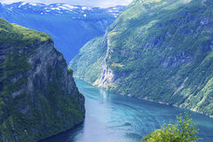 Geiranger fjord scenic. Geiranger fjord beauty scenic view Royalty Free Stock Images