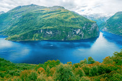 Geiranger Fjord. Scenic beauty view Royalty Free Stock Images