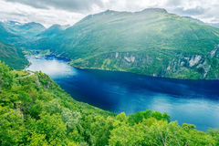 Geiranger Fjord. Scenic beauty view Royalty Free Stock Photography