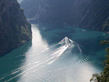 Geiranger fjord from the top Royalty Free Stock Photo