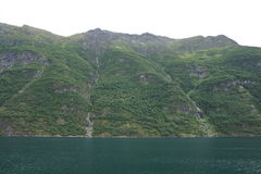 Geiranger fjord view. View of Geiranger fjord, norway. Unesco world heritage site Royalty Free Stock Images