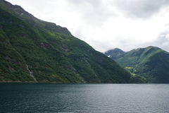Geiranger fjord view 3. View of Geiranger fjord, norway. Unesco world heritage site Stock Images