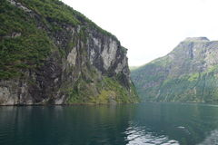 Geiranger fjord view 7. View of Geiranger fjord, norway. Unesco world heritage site Royalty Free Stock Images