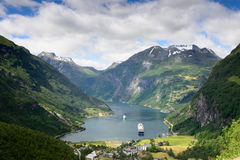 Geiranger fjord view Stock Image