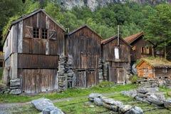 Geiranger-Häuser Lizenzfreie Stockbilder
