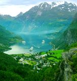 Geiranger, Noorwegen Royalty-vrije Stock Foto