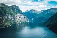 geiranger Norvège de fjord Photos stock