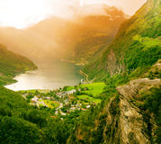 geiranger Norway fiordu Obrazy Stock