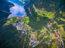geiranger Norway fiordu Fotografia Royalty Free