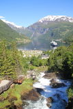 Geiranger in Norway. A summers day in Geiranger in Norway Royalty Free Stock Photography