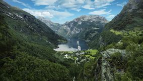 Geiranger, Norway view from above. royalty free stock photo