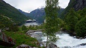 Geiranger Norwegia Obraz Stock