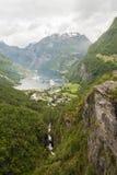 Geiranger pir Norge Royaltyfri Fotografi