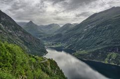 Geiranger - punto di vista, Norvegia 2013 Immagine Stock Libera da Diritti