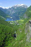 Geiranger view to Atlantic oce Royalty Free Stock Image