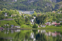 Geiranger village Royalty Free Stock Image