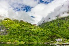 geirangerfjord挪威 库存图片