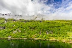 geirangerfjord挪威 免版税库存照片