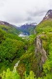 geirangerfjord挪威 库存照片