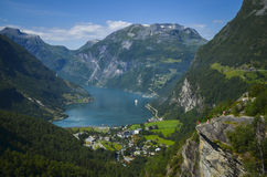 Geirangerfjord and Ørnevegen, Norway Royalty Free Stock Photography