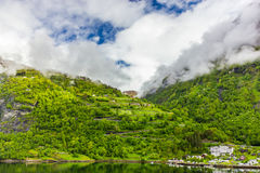 geirangerfjord Νορβηγία Στοκ Εικόνα