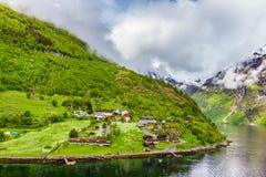geirangerfjord Νορβηγία Στοκ Εικόνες