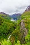 geirangerfjord Νορβηγία Στοκ Φωτογραφίες
