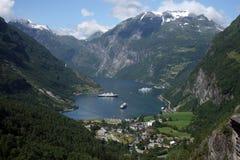geirangerfjord Fotografering för Bildbyråer