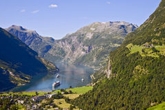 Geirangerfjord Zdjęcie Stock