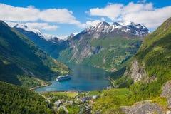 Geirangerfjord royaltyfria foton