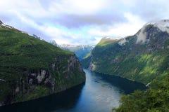 Geirangerfjord Royalty-vrije Stock Foto's