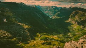 Geirangerfjord from Dalsnibba viewpoint, Norway royalty free stock photos