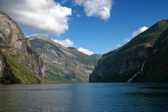 Geirangerfjord, de Erfenis van de Wereld van Unesco, Noorwegen stock afbeelding