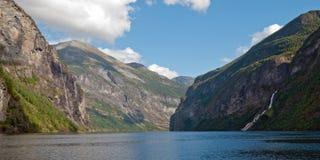 Geirangerfjord, de Plaats van de Erfenis van de Wereld van Unesco, Noorwegen royalty-vrije stock afbeelding