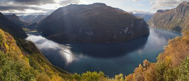 The Geirangerfjord royalty free stock photography