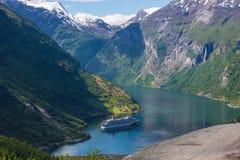 Geirangerfjord in Noorwegen Stock Foto's