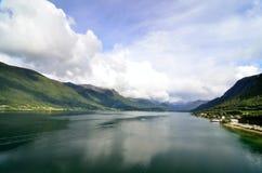 Geirangerfjord, Noorwegen Stock Foto's