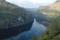 Geirangerfjord in Norvegia Fotografia Stock