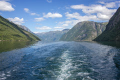 Geirangerfjorden στη Νορβηγία Στοκ φωτογραφία με δικαίωμα ελεύθερης χρήσης