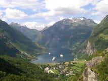 Geirangerfjorden, fiordo fotografía de archivo libre de regalías