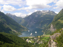 geirangerfjorden fiordu Fotografia Royalty Free