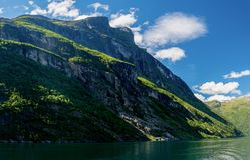 Geirangerfyord della Norvegia Fotografie Stock