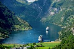 Geirangerfyord Norwegia Zdjęcie Stock