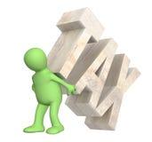 Geisel der Steuer lizenzfreie abbildung