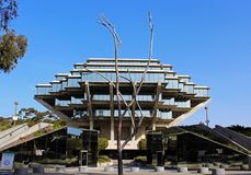 Geisel Library of UCSD. The famous architecture of the Geisel library building of UCSD, La Jolla, San Diego, California Stock Photography